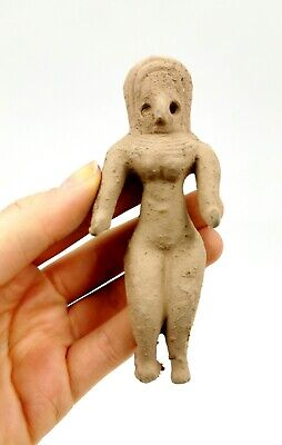 Superb Indus Valley Ca.2500 Bc  Terracotta Standing Female Fertility Idol-R162