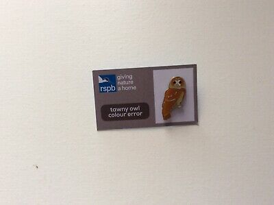 RSPB 'Colour Error' Tawny Owl Special Edition pin badge GNaH
