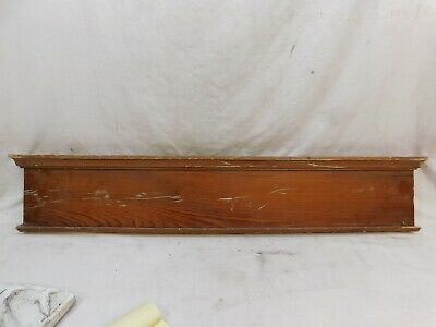 1910's Antique Wooden DOOR PEDIMENT Lintel Header CRAFTSMAN Style Fir ORNATE