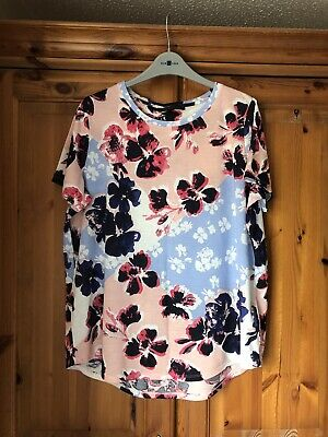 Marks And Spencer Pink Mix Top Size 18