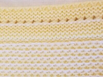 Absorba Baby Blanket Two Sided Pale Yellow & White Very Soft 31 X 29 Perfect!