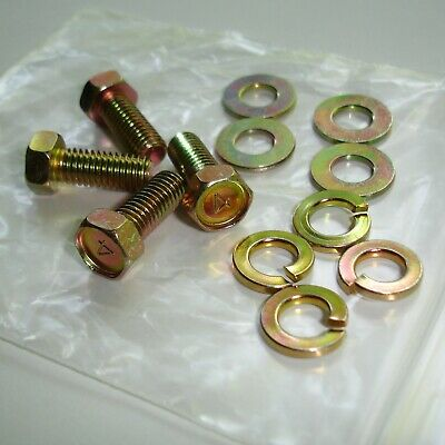 Datsun 240Z Lower Rear Fender Bolt w/ Washers Set Yellow Zinc