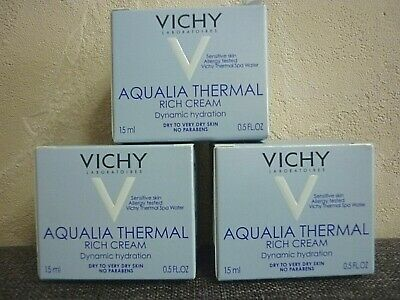 Vichy Laboratoires  Aqualia Thermal    Creme Riche    3 stück   je 15 ml   Neu