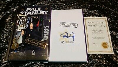 Kiss Paul Stanley Signed Backstage Pass Book Exclusive Edition Coa Premiere 2019