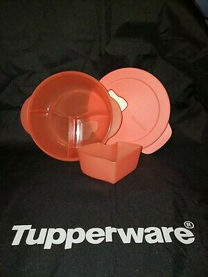 TUPPERWARE CrystalWave Divided Guava Dish Cold Spot Microwave New