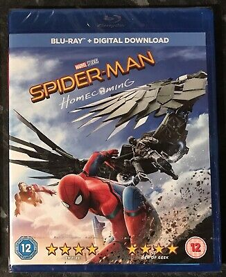 Spider-Man Homecoming Marvel Bluray & Digital Download New & Sealed Mint Con