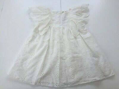 BNWT Zara Girls Off White Broderie Anglaise Dress - Age 3-4 Years