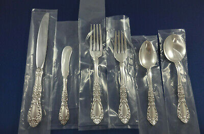 Prince Eugene by Alvin Sterling Silver Flatware Set For 8 Service 59 Pieces