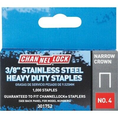 Channellock No. 4 Narrow Crown Stainless Steel Staple, 5/16 In. (1000-Pk)