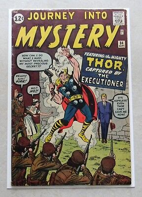 Journey Into Mystery #84 (Sep 1962, Marvel) 5.0 VG/FN OFF-WHITE 2nd Thor CGC IT