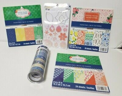 Recollections Scrapbooking Paper Washi Tape Stamps Lemons Vacation Pineapples