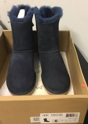 444d5669695 UGG AUSTRALIA BLACK Bailey Bow Bling Boots 3045* S/N 1004791 Size 5 ...