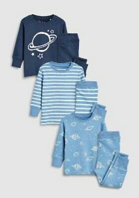 Boys pyjama NEXT 3 pack  baby 9 12 18 24 months 2 3 4 5 6 year RRP £22-£28 space