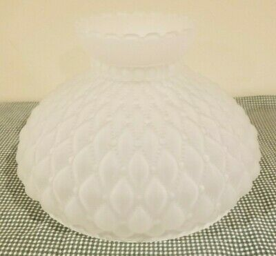10 Inch Fitter Frosted Quilted Diamond Glass Student Lamp Shade Aladdin Rayo B&H