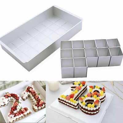 Cake Baking Mould Number Tins Letter Alphabet Pan Aluminum Alloy Mold Large Tool