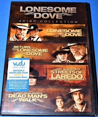 New Rare Oop Lonesome Dove 4 Disc Collection 4 Tv Movie Miniseries Dvd Set 2013