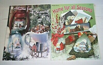 Lot 2 Home for All Seasons painting books Debbie Toews Vol 1 + 5 tole decorative