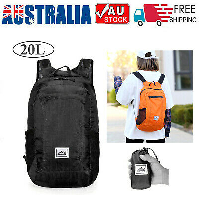 Portable Foldable Backpack Waterproof Backpack Bag Ultralight Outdoor Pack L4S2