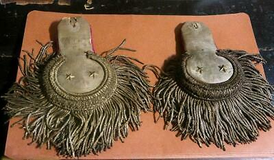 Pair of Imperial Russian Epaulettes Late 19th or Early 20th Century