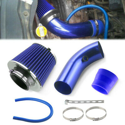 """BLUE UNIVERSAL 3/"""" 76mm CHF AIR FILTER FOR DODGE//JEEP AIR INTAKE+PIPE"""