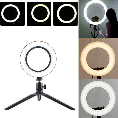 LED Ring Light Dimmable 5500K Lamp Photography Camera Photo Studio Phone Video X