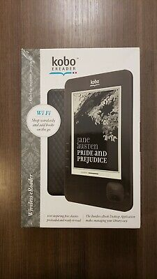 """Kobo Touch 1GB E-Reader, Model N289, Wi-Fi, 6"""" - Black - NEW, SEALED, UNOPENED"""