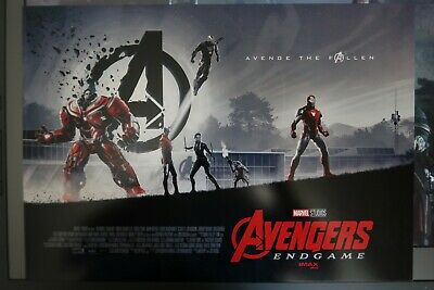 "AVENGERS ENDGAME AMC IMAX MINI POSTER 11"" x 15.5 "" BRAND NEW Marvel iron man"