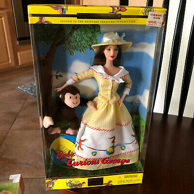Barbie Doll and Curious George Collector Edition 2001