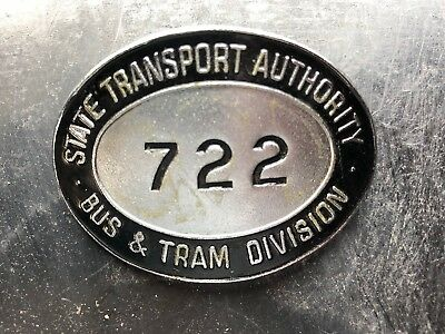 State Transport Authority Bus Tram Division Drivers Badge 722