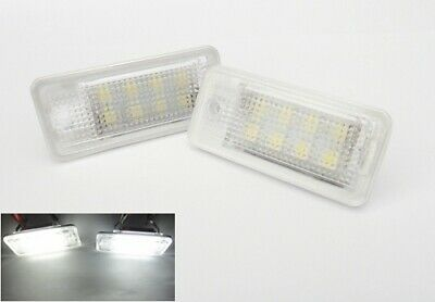2x Audi License Number Plate LED Light White A3 A4 A5 A6 A8 Q7 RS6 S3 S5 B6 B7