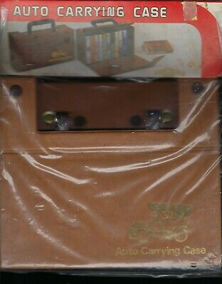 Vintage Retro Car Cassette Carrying Case Still Folded original 1970's Packaging