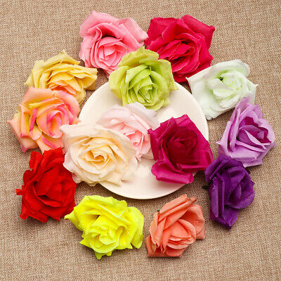 20/50pcs Small Silk Rose Bud Heads Artificial Fake Flower Wedding Party Decor Dried & Artificial Flowers
