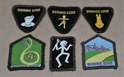 Six Vintage Brownie Girl Guide Patches