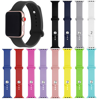 Replacement Silicone Bracelet Sports Band Strap For Apple Watch Series 4/3/2/1