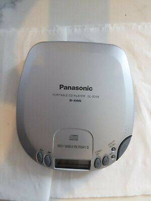 Vintage Panasonic SL-S208 Portable CD Player / Tested Working Silver