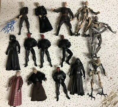 Star Wars Vintage Modern action Figure Lot Comic Packs Legacy Sith Darth Maul