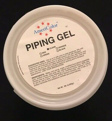 AmeriColor Clear Cake Decorating Piping Gel 5LB Tub Baking Sugarcraft NEW SEALED