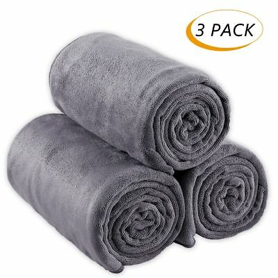 Microfiber Gym Towels Sports Fitness Workout Sweat Towel Fast Drying 3 Pack