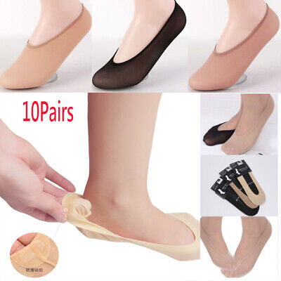 10 Pairs Women Ladies Invisible Footsies Shoes Liner Trainer Ballerina Socks Lot