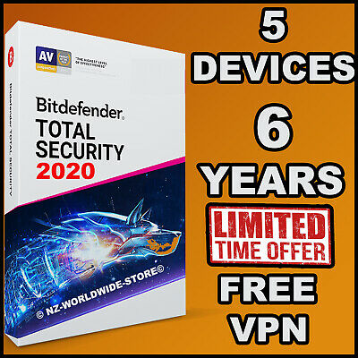 Bitdefender Total Security 2020 - 6 YEARS 5 DEVICES - Download - FAST Delivery