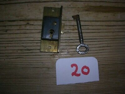 Small Antique Brass Cabinet Lock With Key (20)