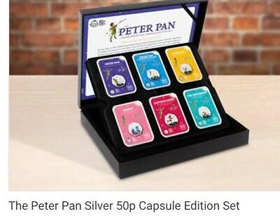 Peter Pan Silver Proof 50p CAPSULE Edition Complete Set 250 Worldwide Limited Ed