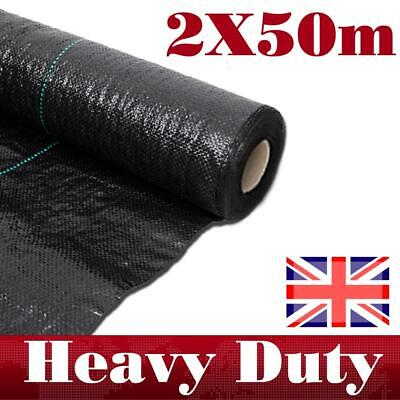 Weed Control Fabric Ground Cover Membrane Landscape Mulch Garden 100GSM 1.5/2M