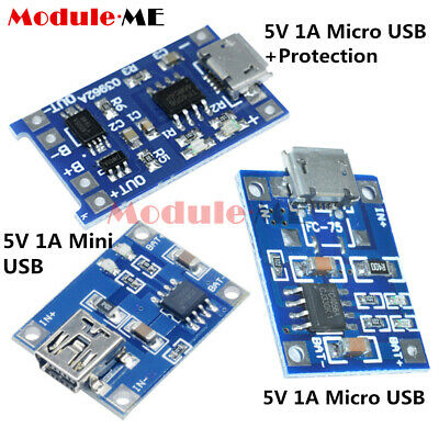 2/5/10PCS TP4056 5V 1A Mini/Micro USB 18650 Lithium Battery Charger Board Module
