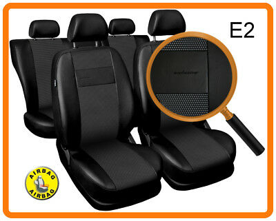 Car seat covers fit Audi A4 - full set black leatherette/polyester