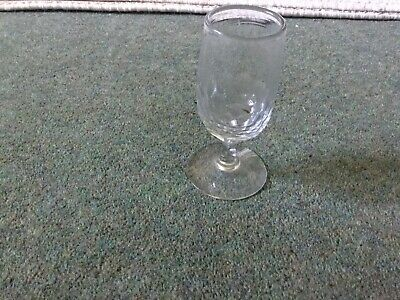 A Victorian/ Edwardian Faceted Glass Cut Base Pontil Mark Smooth