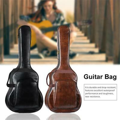 """Acoustic Guitar Double Straps Padded Guitar PU leather Case Gig Bag 40""""  41"""""""
