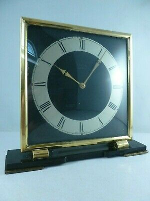 Vintage SMITHS Art Deco wind up 7 jewel 8 day Mantle Clock circa 1930's Working
