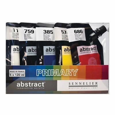 Sennelier Abstract Acrylic Paint Primary Colours Set 5 x 120ml