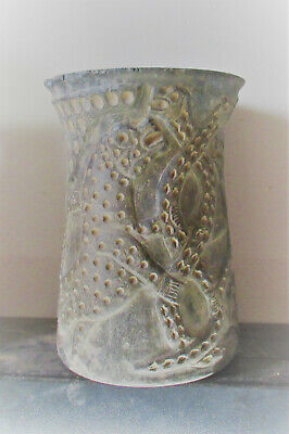 Circa 200Bc-200Ad Ancient Bactrian Chlorite Vessel With Mythic Beast Depictions